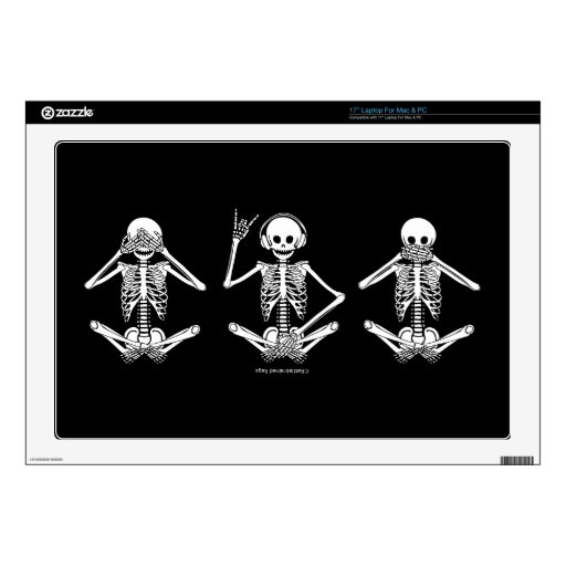 """See No Evil... Decals For 17"""" Laptops"""