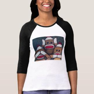 See No Evil Sock Monkeys T-Shirt