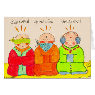 See No Evil, Speak No Evil, Hear No Evil Card