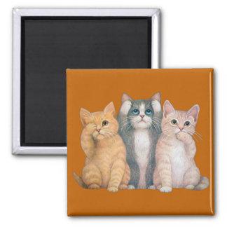 See No Hear No Speak No Evil Cats Magnet