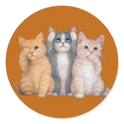 cats see no evil hear no evil