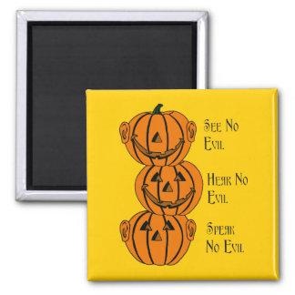 See No, Hear No, Speak No Evil Pumpkins Magnet