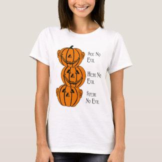 See No, Hear No, Speak No Evil Pumpkins T-Shirt
