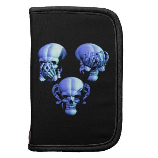 See No Hear No Speak No Evil Skulls Folio Planner