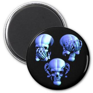 See No, Hear No, Speak No Evil Skulls Magnet