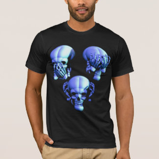See No, Hear No, Speak No Evil Skulls Shirt