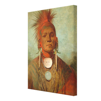 See-non-ty-a, an Iowa Medicine Man, 1844 Gallery Wrapped Canvas