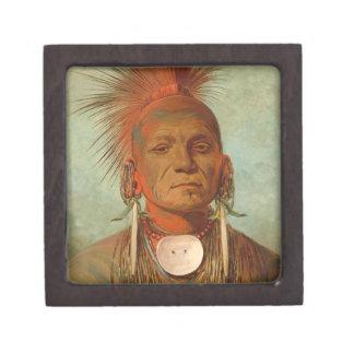 See-non-ty-a, an Iowa Medicine Man, 1844 Jewelry Box