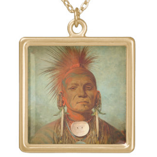See-non-ty-a, an Iowa Medicine Man, 1844 Jewelry