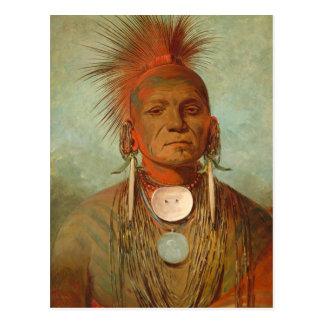 See-non-ty-a, an Iowa Medicine Man, 1844 Postcard