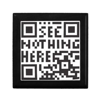 see nothing here - dummy, anti-surveillance qr co keepsake box