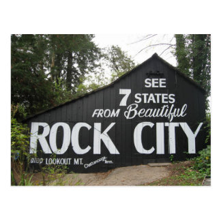 """See Rock City"" Atop Lookout Mountain Barn Postcard"