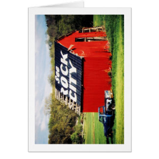 See Rock City Barn Greeting Cards