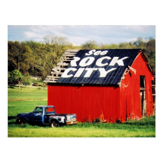 See Rock City Barn Postcard
