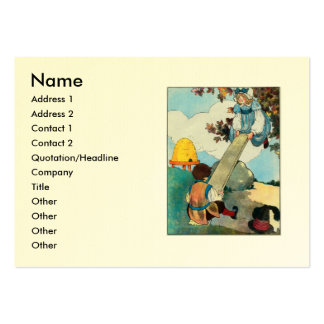 See-saw, Margery Daw, Large Business Cards (Pack Of 100)