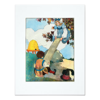 See-saw, Margery Daw, Card