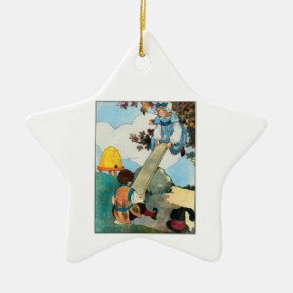 See-saw, Margery Daw, Ceramic Ornament