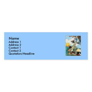See-saw, Margery Daw, Double-Sided Mini Business Cards (Pack Of 20)