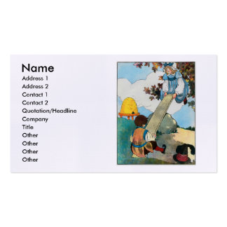 See-saw, Margery Daw, Double-Sided Standard Business Cards (Pack Of 100)