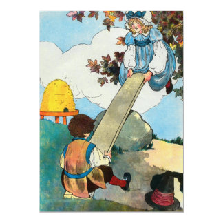 See-saw, Margery Daw, 5x7 Paper Invitation Card