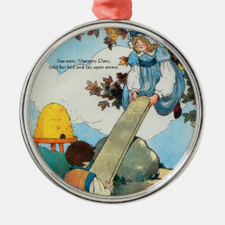 See-saw, Margery Daw, Metal Ornament