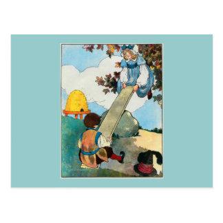 See-saw, Margery Daw, Postcard