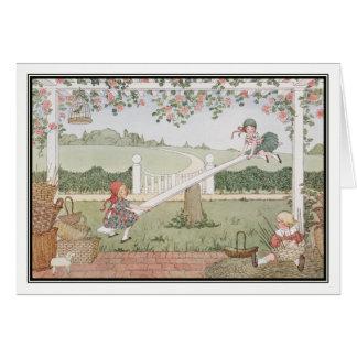See-Saw, Marjorie Daw by H. Willebeek Le Mair Card