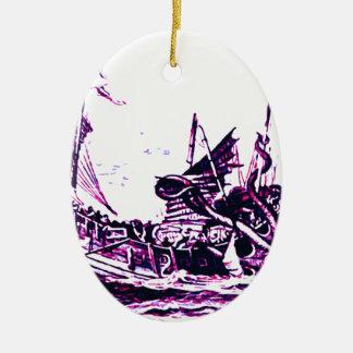 See Sea monster Ceramic Ornament