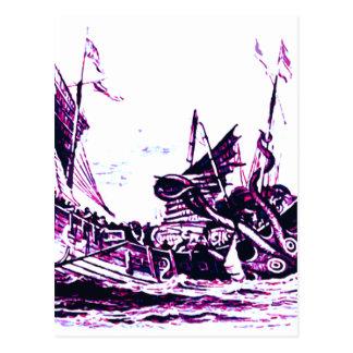 See Sea monster Postcard