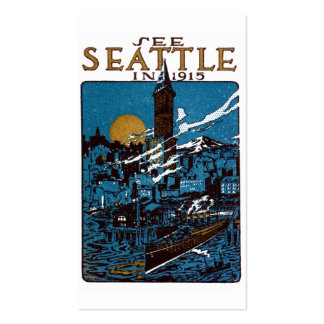 See Seattle in 1915 Double-Sided Standard Business Cards (Pack Of 100)