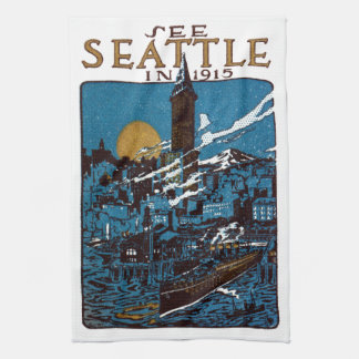 See Seattle in 1915 Kitchen Towels