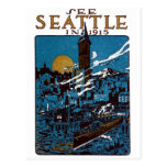See Seattle in 1915 Postcard