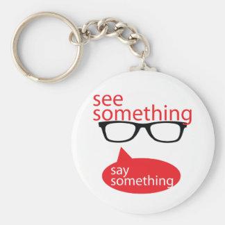 See Something Say Something Basic Round Button Keychain