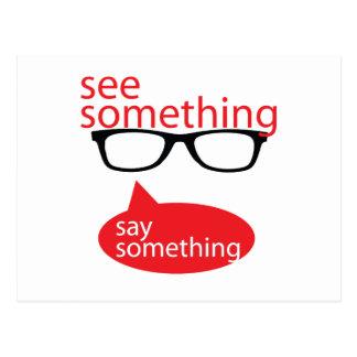 See Something Say Something Postcard
