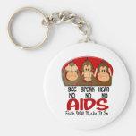 See Speak Hear No AIDS 1 Key Chains
