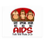 See Speak Hear No AIDS 1 Post Cards