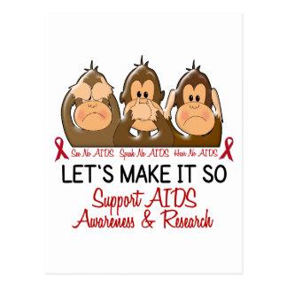 See Speak Hear No AIDS 2 Postcard
