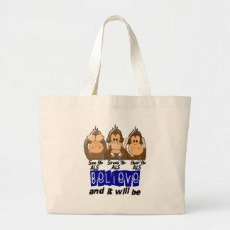 See Speak Hear No ALS 3 Jumbo Tote Bag