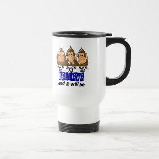 See Speak Hear No ALS 3 15 Oz Stainless Steel Travel Mug