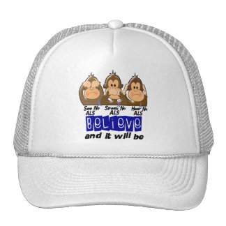 See Speak Hear No ALS 3 Trucker Hat