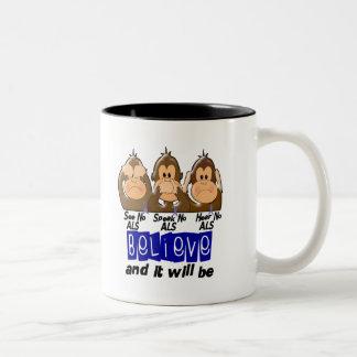 See Speak Hear No ALS 3 Two-Tone Coffee Mug