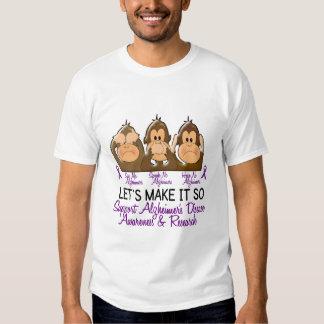 See Speak Hear No Alzheimers Disease 2 T-Shirt