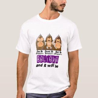 See Speak Hear No Alzheimers Disease 3 T-Shirt