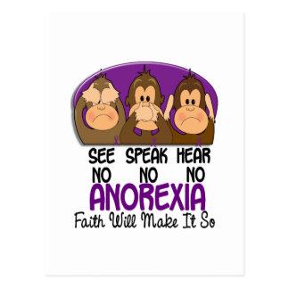 See Speak Hear No Anorexia 1 Postcard