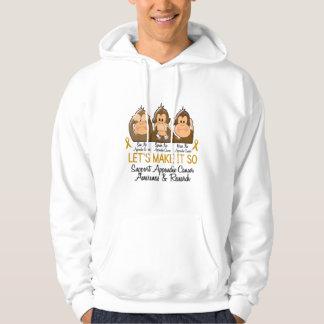 See Speak Hear No Appendix Cancer 2 Hooded Sweatshirt