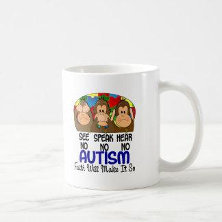 See Speak Hear No Autism 1 Coffee Mug