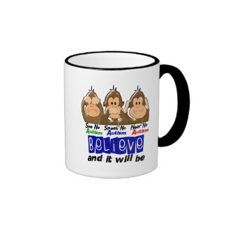 See Speak Hear No Autism 3 Coffee Mug