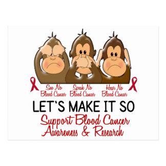 See Speak Hear No Blood Cancer 2 Postcard