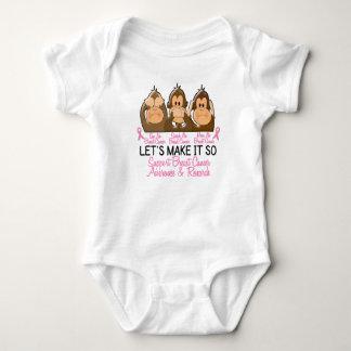 See Speak Hear No Breast Cancer 2 Baby Bodysuit