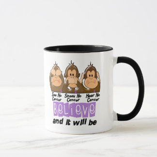 See Speak Hear No Cancer 1 Mug